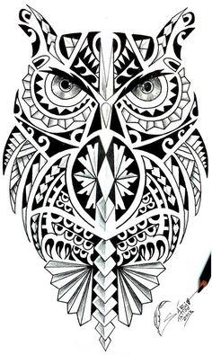 Coruja maori … #polynesiantattoosanimal