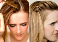Try a simple waterfall braid and pin at the crown