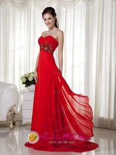 Launceston-TAS-Wholesale-Fashionable-Red-Empire-Sweetheart-Brush-Train-Chiffon-Appliques-and-Ruch-Dama-Dress-for-Formal-Evening-Style-MLXN152Style--112.jpg (750×1000)