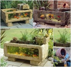 Having an aquarium in your home brings tranquillity and beauty. So here you go for aquariums that you can place in your patio or garden