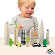 AndreuToys - City Skyline Glow Blocks