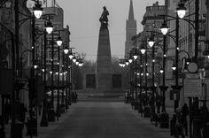 Piotrkowska z widokiem na plac Wolności