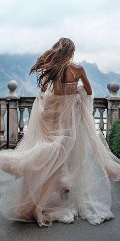 33 Rustic Wedding Dresses For Inspiration ❤ rustic wedding dresses blush princess low back galialahav #weddingforward #wedding #bride