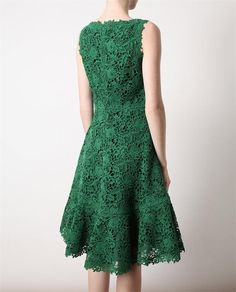 Macrame lace and silk dress by Valentino