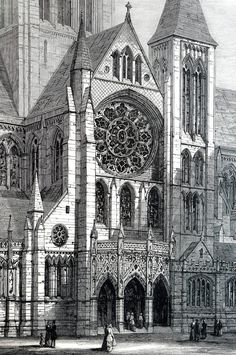 Cathedral Architecture, London Architecture, Historical Architecture, Gothic Architecture Drawing, Versailles, Gothic Drawings, City Drawing, Interior Design Sketches, Architect Design