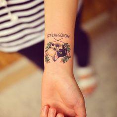 #puppy#tattoo#puppytattoo#dog#dogtattoo#강아지타투#강아지#타투#3s#홍대 귀엽~^~^