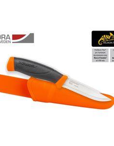 Mora knife Companion F serated - Stainless Steel - Mora Orange