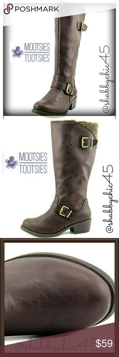 Mootsies Tootsies Faux Fur Lined Riding Boots Mootsies Tootsies Faux Fur Lined full length riding boots are your go to boot through the fall and winter.  All man made materials with rubber soles. Top of shaft is a little wider than most which is great for those who need or want a little more room around the calf.   Great with skinny jeans, leggings, it wear with rights and tunic dresses, maxi length dresses or skirts.  Casual or office.  ??Smoke free home. No trades. Open to reasonable…