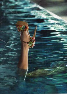 shoe above water. Ester Williams, Spring 2014, Swimming Pools, Shoe, Water, Swiming Pool, Gripe Water, Pools, Zapatos
