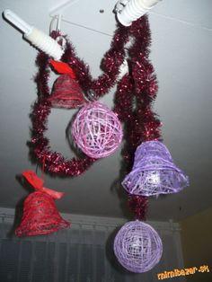 Vianočné ozdoby z nití