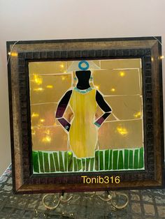 Yellow Dress, Black Women, Mosaic, Painting, Art, Art Background, Yellow Gown, Mosaics, Painting Art