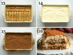 The easiest and most delicious Tiramisu recipe! This authentic Italian dessert is rich and creamy but as light as air made with coffee dunked Savoiardi (ladyfingers), a smooth and creamy mascarpone filling and dusted with cacao powder to finish it off. Perfect for any occasion! Authentic Italian Tiramisu Recipe, Classic Tiramisu Recipe, Authentic Italian Desserts, Tiramisu Mascarpone, Delicious Desserts, Dessert Recipes, Italian Cookie Recipes, Cacao Powder, Smooth