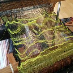 Ripple weaving Saori Salt Spring Workshop