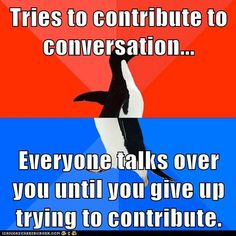 Animal Memes: Socially Awesome Awkward Penguin - I'll Just Sit Here and Laugh to Myself