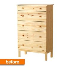 My new emerald green focal piece?? Before & After: A Tame IKEA Tarva Gets a Chic Upgrade Smitten Studio