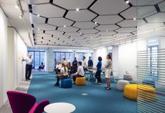 △ case-study of our Houston office, featuring yours truly in a couple of pictures Office Space Design, Workplace Design, Office Interior Design, Corporate Design, Office Interiors, Commercial Interior Design, Commercial Interiors, Office Ceiling, Hallway Ceiling