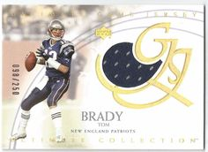 2003 UD ULTIMATE COLLECTION #UJ BA TOM BRADY GAME USED JERSEY CARD /250 NM…