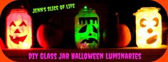 DIY Glass Jar Halloween Luminaries