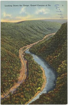 Looking down the gorge, Grand Canyon of Pa. | Flickr - Photo Sharing!