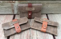 Leather clasp wallets. IG: @n.w_leatherwork Leather Working, Wallets, Purses