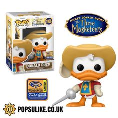 The Three Musketeers, Pop Vinyl Figures, Disney Marvel, Funko Pop Vinyl, Thor, Donald Duck, Product Launch, Places, Remodeling Ideas