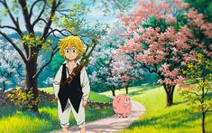 Download wallpapers Meliodas, 4k, manga, Nanatsu no Taizai
