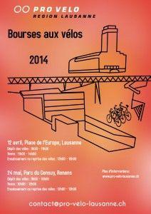 Foires aux vélos 12 avril: Lausanne 24 mai: Renens Lausanne, 12 Avril, 24 Mai, Switzerland