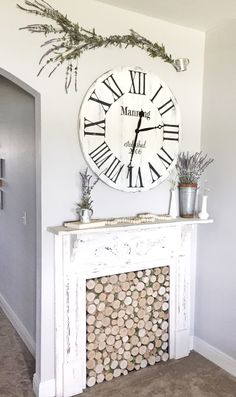 7 Honest ideas: Concrete Fireplace Indoor fake fireplace and tv.Fireplace Living Room Apartment fireplace and tv diy.Painted Fireplace With Built Ins. Farmhouse Fireplace Mantels, Wooden Fireplace, Paint Fireplace, Fireplace Built Ins, Small Fireplace, Concrete Fireplace, Fireplace Mantle, Fireplaces, Faux Mantle