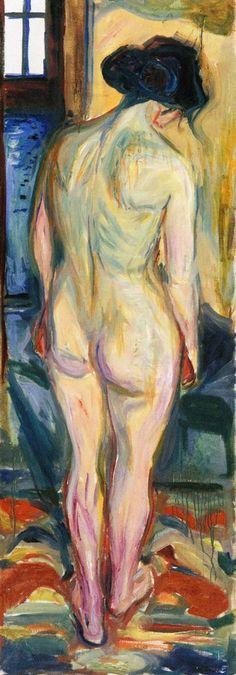 Edvard Munch - 1922/23, Standing Nude, back. Munch-museet, Oslo