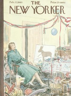 Perry Barlow : Cover art for The New Yorker 1828 - 27 February 1960