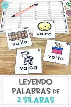 Learning to read in Spanish is fun with these self correcting 2-syllable puzzles. Perfect for word work stations and independent practice for kindergarten, first grade, and 2nd grade. The accompanying worksheet keeps students accountable as they complete their work.