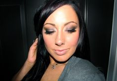 Heres the classic Kardashian smoky eye using the new Urban Decay Naked Palette! (Andreas wedding makeup?)