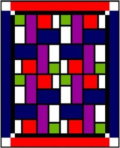 this is a pattern similar to the original subway style quilt we found but not quite it...keeping for reference