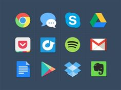 Huge collection of Flat Icon Set and Flat Web UI Elements for user interface designing. The wonderful collection of multipurpose Flat Icons for Web UI Design. Flat Design Icons, Web Ui Design, Logo Design, Flat Icons, Graphic Design, Resume Design, Design Design, Free Design, Creative Design