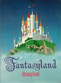 vintage disneyland poster - Google Search