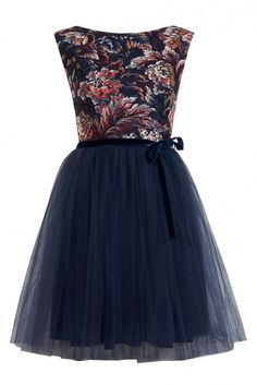 Miss Selfridge Floral Print Mesh Tutu Dress, £45 - Winter Wedding Guest Dresses - Wedding Guest Dresses - Wedding Guest Outfits