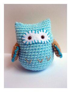 What a hoot... Blue Crochet Amigurumi Owl by AllSoCute on Etsy