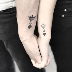 Terrific tattoos to encourage your first tattoo Meaningful Tattoos For Couples, Small Couple Tattoos, Small Tattoos, Mini Tattoos, Body Art Tattoos, Tatoos, Tattoo Roman, Writing Tattoos, Tattoo Now