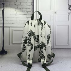 Pineapple Canvas Backpack – Larry's Goods LLC Backpack Travel Bag, Canvas Backpack, Pineapple Backpack, Everyday Items, Fashion Line, School Bags, Laptop Sleeves, Shoulder Strap, Backpacks