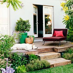 """Changes in levels and materials help carve distinct """"rooms"""" for your outdoor space"""