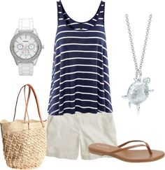 """""""Beachy"""" by premiumheart ❤ liked on Polyvore"""