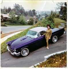 Annette Funicello and her Thunderbird,1955