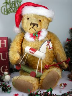 HO HO HO HENRI!! A FRENCH BEAR   www.onceuponatimebears.co.uk
