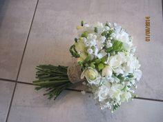 Bouquet de mariée (lysianthus et gypsophile)