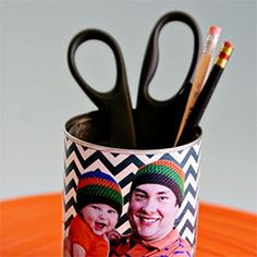 Make pop a pencil holder for Father's Day.  I love the chevron pattern.