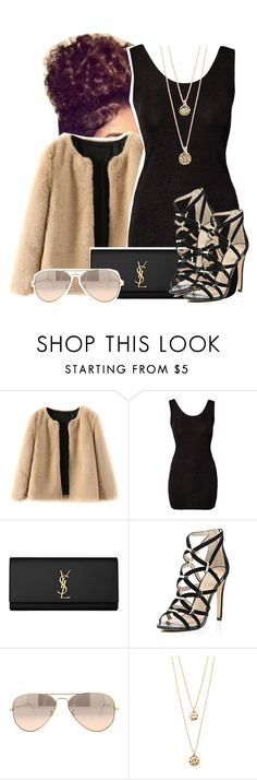 """""""Body 2 Body"""" by kiaratee ❤ liked on Polyvore featuring Club L, Yves Saint Laurent, River Island, Ray-Ban, Forever 21, women's clothing, women's fashion, women, female and woman"""