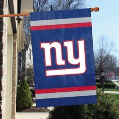The New York Giants Applique Banner Flag for the house, tailgating or the fan cave