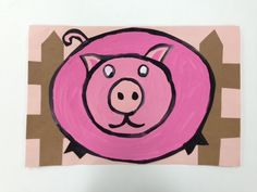 Draw The Line At: value piggies.  Drawing, Mixing different pinks. painting, outlining, cutting and gluing.  Lots for Kindergartners to do!