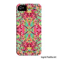 iPhone 5 Case Artist iPhone4 Case mosaic Funky by ingridsart, $39.00