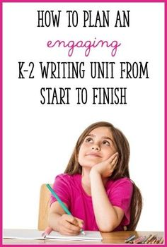 This post takes you, step-by-step, through the process of planning an engaging writing unit! Click through to get ideas for your Kindergarten, first grade, or second grade writing lessons. Kindergarten Writing, Teaching Writing, Student Teaching, Writing Activities, Teaching Ideas, Narrative Writing, Fiction Writing, Opinion Writing, Writing Lessons